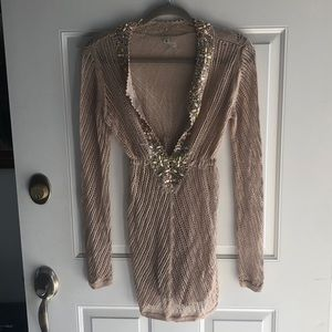 Victoria's Secret small beaded taupe cover up